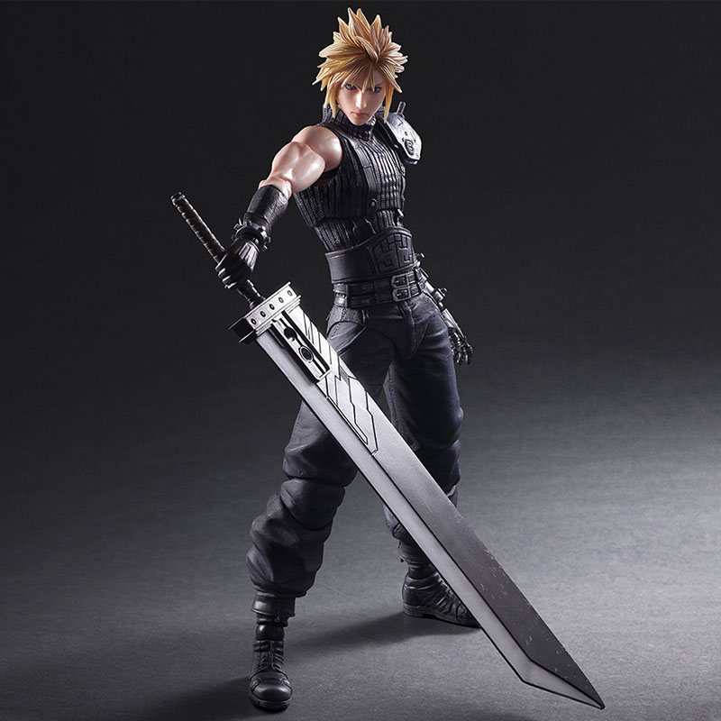 New 26cm Anime Cloud Strife Final Fantasy VII 7 Advent Figure PVC 10 Collection Hobby Model Doll Best Gift Cosplay Toy
