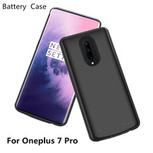 6500mAh Portable Mobile Power Shock-Proof Charging Back Cover for External Battery Charger Box for Oneplus 7 Pro Battery Box