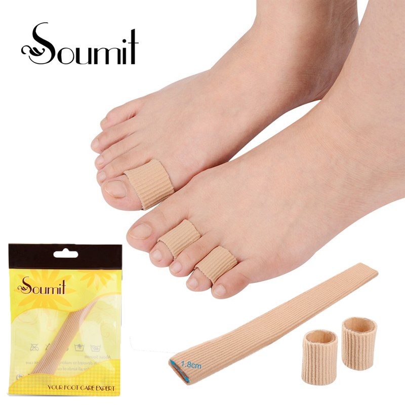 1.8 * 20cm Fabric Gel Tube Bandage Finger & Toe Maintain Corns Cushion Hallux Valgu Blisters Calluse Pain Relief Pads Inserts
