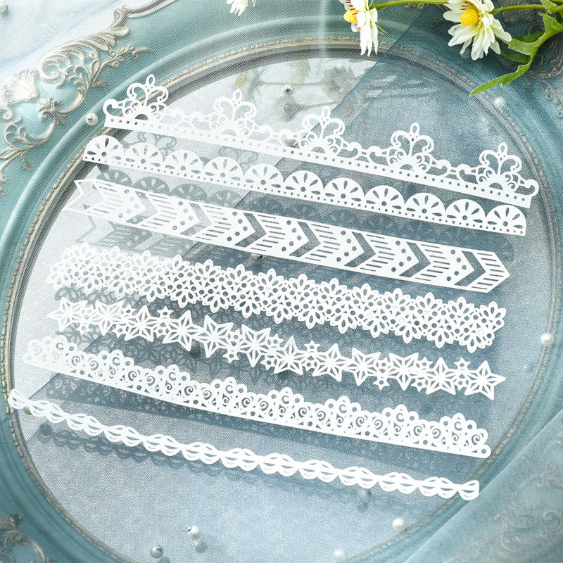 KLJUYP 14pcs White Lace Paper Doilies/Placemats for Wedding Party Decoration Supplies Scrapbooking Paper Crafts 2