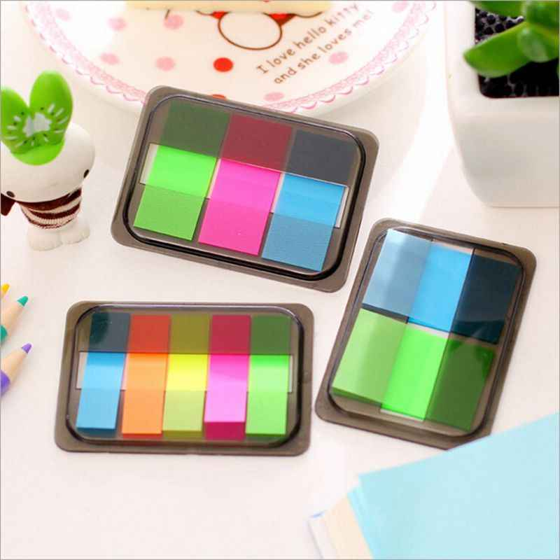 Nuevas almohadillas de notas de colores Kawaii lindo papel adhesivo bonito Post it Note material de oficina de la escuela