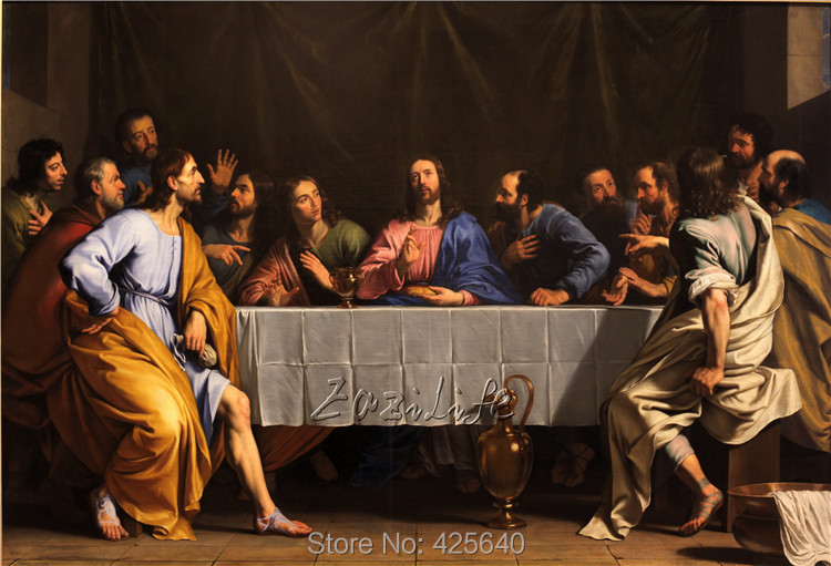 home decor jesus christ painting the last supper vi art decor painting print giclee art print