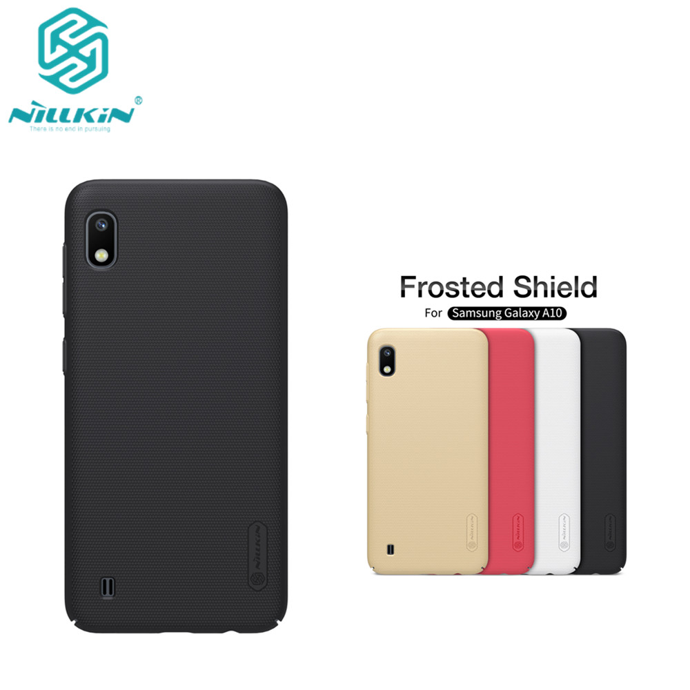 10pcs/lot wholesale Nillkin Super Frosted Shield Case For Samsung Galaxy A10 PC Hard Back Cover Case For Galaxy A10 case-in Fitted Cases from Cellphones & Telecommunications    1