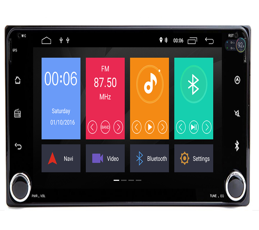 Autoradio 2 din Android 9.1 Car DVD Multimedia Player For Toyota Land cruise <font><b>100</b></font> <font><b>200</b></font> prado120 150 RAV4 COROLLA Camry yaris Hilux image