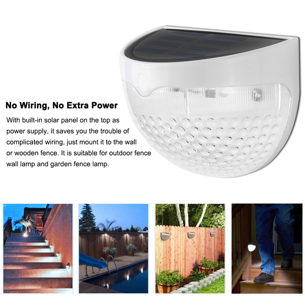 Solar Led Wall Lamp 6 Light Sensor Auto On Off Waterproof Cool Wiring Outdoor White Warm For Stair Post Garden Fence Yard In Lamps From Lights
