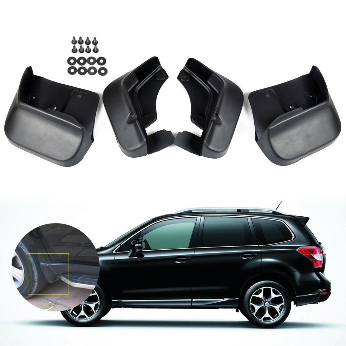 DWCX 4 pcs Boue Volets pare-Boue Garde-Boue Bavettes Garde-Boue Pour Subaru Forester 2008 2009 2010 2011 2012 2013