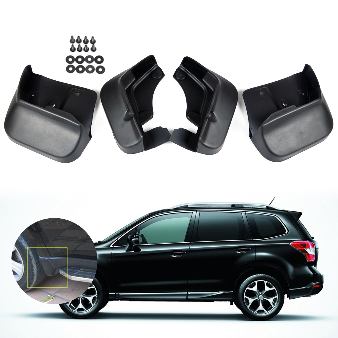 DWCX 4pcs Mud Flaps Splash Guards Mudguard Mudflaps Fender For Subaru Forester 2008 2009 2010 2011 2012 2013 все цены