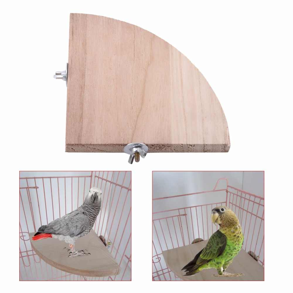 Wooden Pet Bird Parrot Platform Holder Stand Rack Toy Bird Cage Station Board Branch Perch For Hamster Birds Cage Accessories