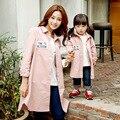 Осенью 2016 новых Корейских детей вышитые детей футболка с длинным пальто тонкий слой Корейских детей