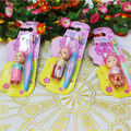 2 PCS/Lots Children Toothbrush+Toy teeth Training Toothbrushes baby dental care tooth brush