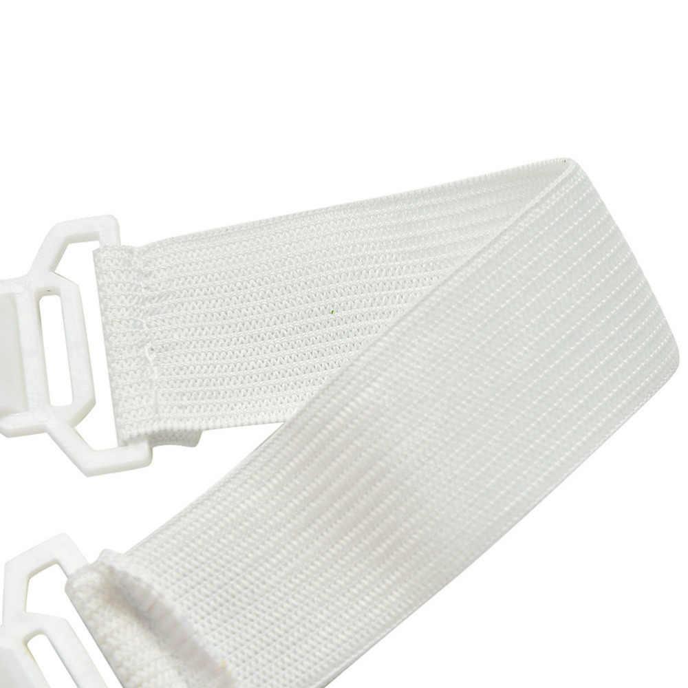 4 Pcs สีขาวผ้าปูเตียงที่นอนผ้าห่ม Grippers ตัวยึดยืดหยุ่นชุดขายร้อน
