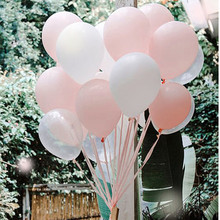 Light Pink Party Balloon 30pcs/lot Transparent White Tender pink Baby Shower Happy Birthday Party Wedding Decoration Balloon