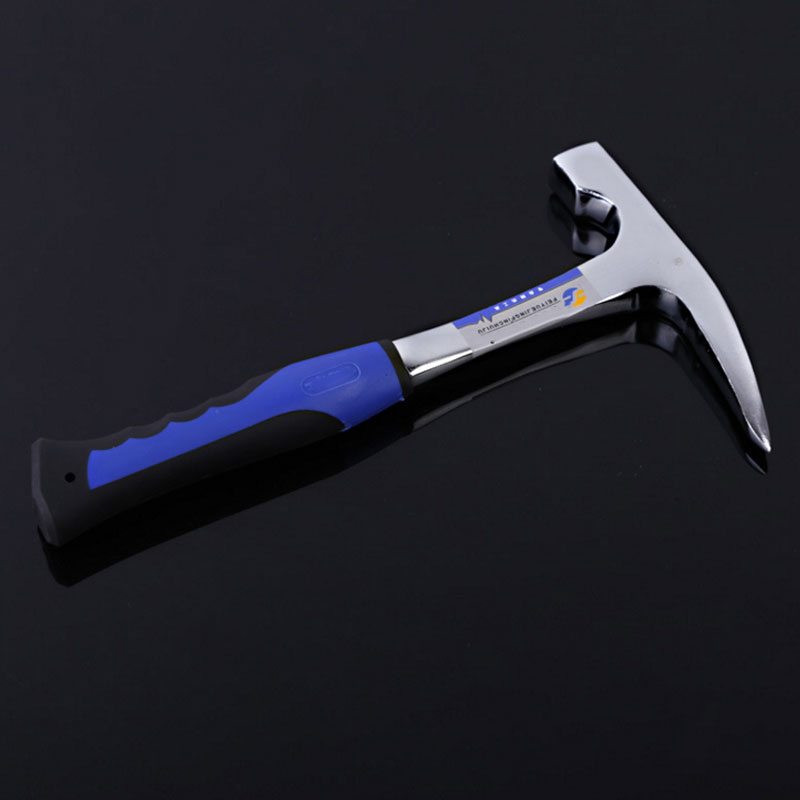 Exploration Hammer Tool Rock Pick Geology with Pointed Tip & Shock Reduction Grip Chisel Edge Petrographic Geological Hammer uneefull professional geological exploration hammer pointed
