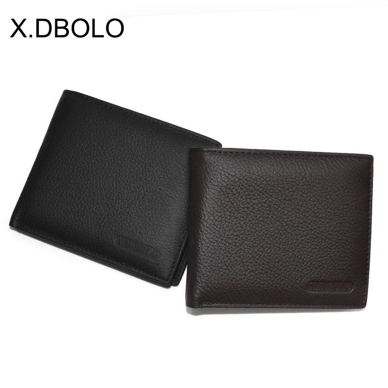 X.D.BOLO Wallet Short Men Wallets Genuine Leather Simple Male Purse Card Holder Wallet Fashion Zipper Pocket Coin Purse Bag slymaoyi classical men wallets genuine leather short wallet fashion zipper brand purse card holder wallet man with coin bag page 10