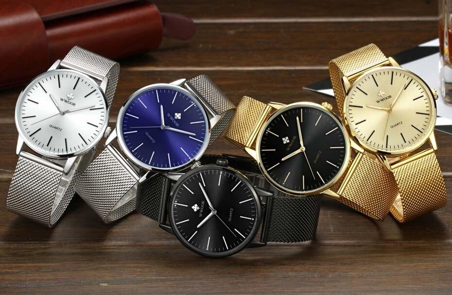 WWOOR 2019  Mens Watches Top Brand Luxury Gold Men\'s Minimalist Wrist Watches Ultra Thin Gift Watch For Men relogio masculino (2)