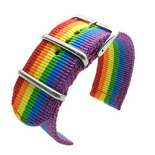18 20 22 24 mm Nylon Watch Strap High Quality band Rainbow Stripe Color For Dw Nato Canvas Belts