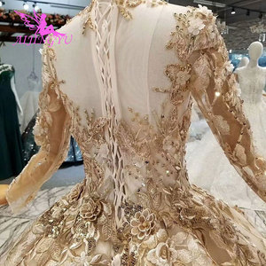 Image 5 - AIJINGYU מרוקאי חתונה שמלות ארוך סקסי חלוק הנחה מלכת Pricess אורח את חנות כלה תחרה שווי שרוול