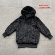 QC02 Free shipping women natural real rabbit fur vest waistc