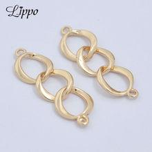 8283c249879b 30 unids 8 forma 24 K oro cobre conector cadena corta curb Link Cadenas  pendiente hallazgos y accesorios del bolso