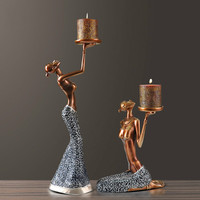 European Retro Candlestick Candlelight Dinner Props Romantic Table Decoration Home Creative Decorations