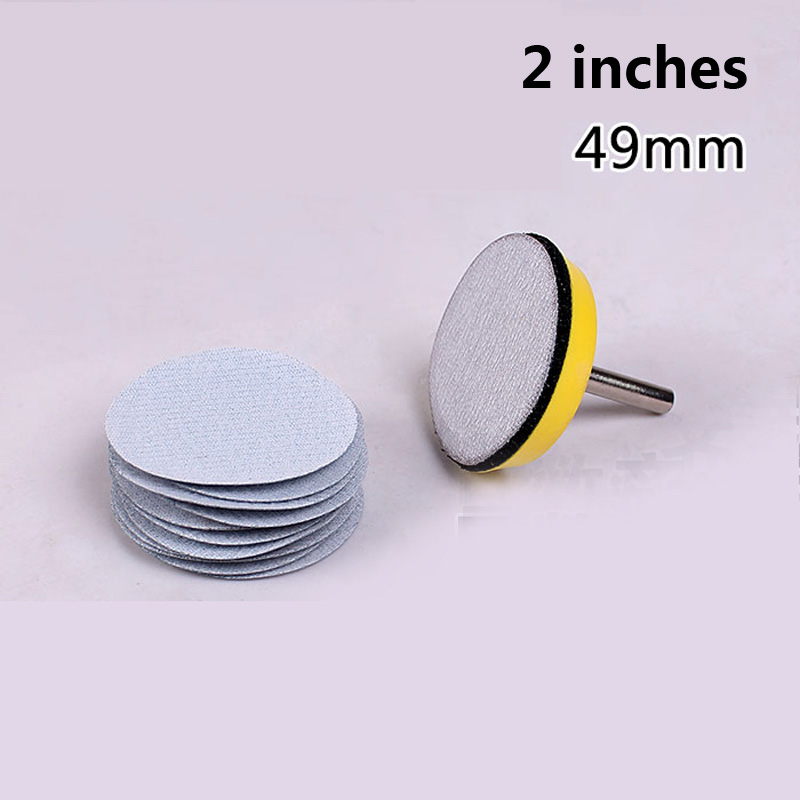 20 pezzi 2 pollici 49 mm floccaggio carta abrasiva a secco - Utensili abrasivi - Fotografia 2