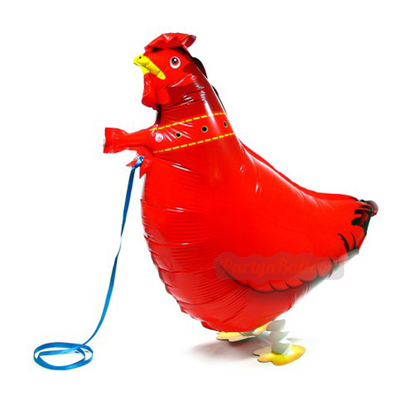 HEN Walking font b Pet b font Balloons Chicken Walking Animal Foil Balloons Party Decoration Supplies