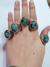 5pcs /lot Beach Jewelry Unique Carved Antique Silver turquoise Lucky Rings for Women Vintage Punk Ring Set