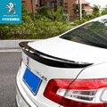 Для Peugeot 408 2014-2019 спойлер заднего крыла  спойлеры крыльев багажника краски ABS 3M паста