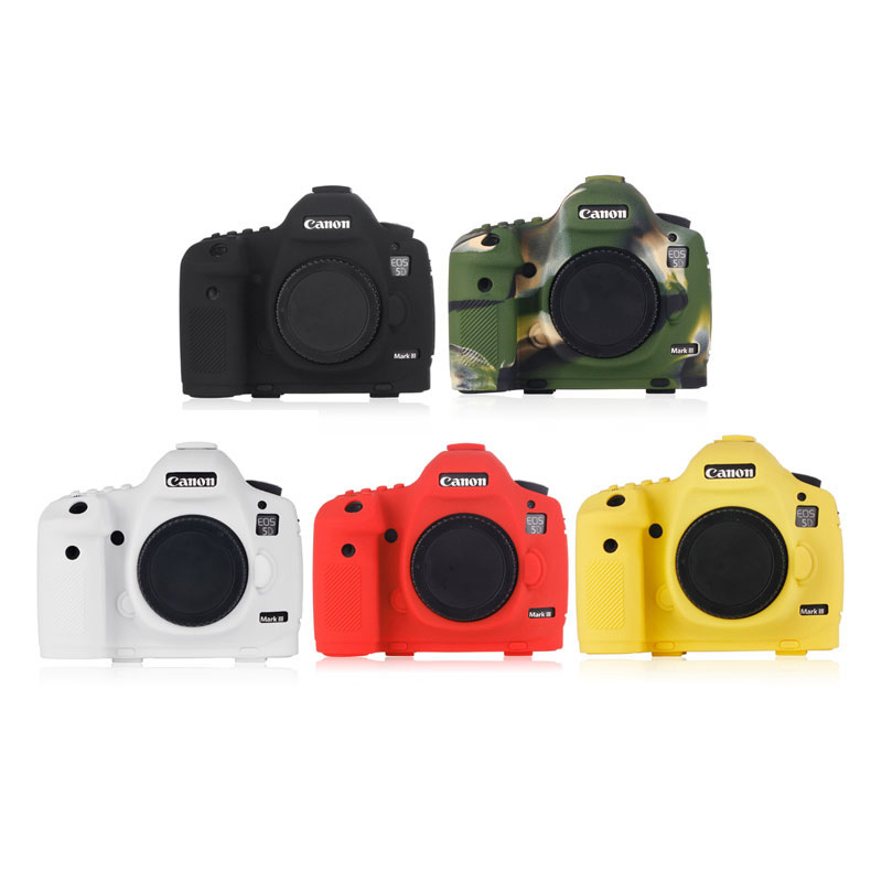 High Quality Soft Silicone Rubber Camera Protective Body Case Skin For Canon 5D Mark III 5D3 5Ds 5DsR Camera Bag protector cover