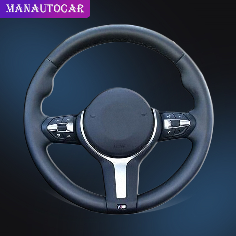 Auto Braid On The Steering Wheel Cover for BMW F87 M2 F80 M3 F82 M4 M5 F12 F13 M6 X5 M F86 X6 M F33 F30 M Sport Car Cover-in Steering Covers from Automobiles & Motorcycles