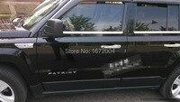 לג ' יפ פטריוט 2007 - 2013 נירוסטה חלון trim סיל chrome דפוס