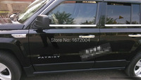For Jeep Patriot 2007 2013 Stainless steel Window Trim sill Chrome Molding