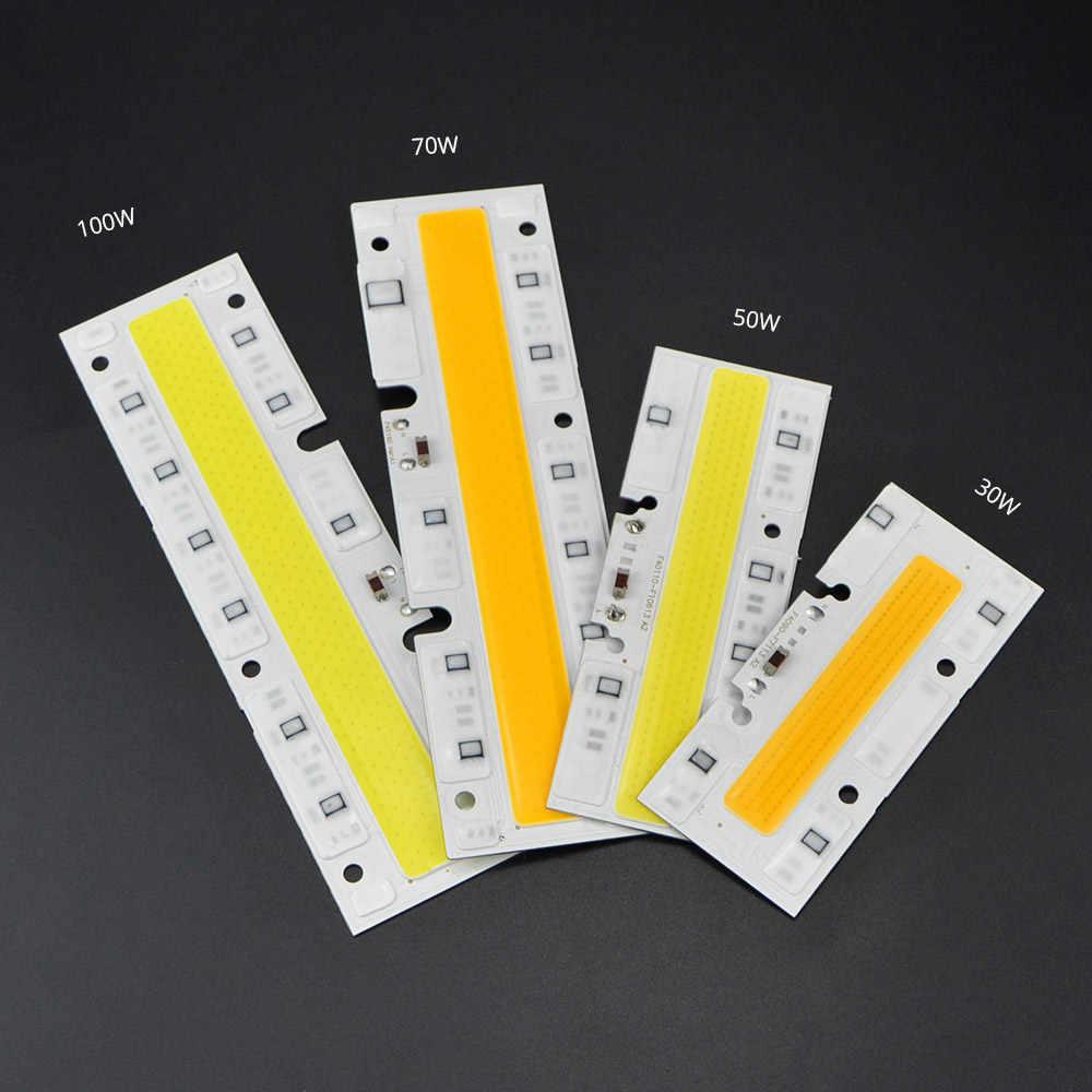 30W 50W 70W 100W zintegrowany COB Chip prostokątny 220V Chip LED LED obiektyw dla DIY LED reflektor COB lampy Spotlight Accssories