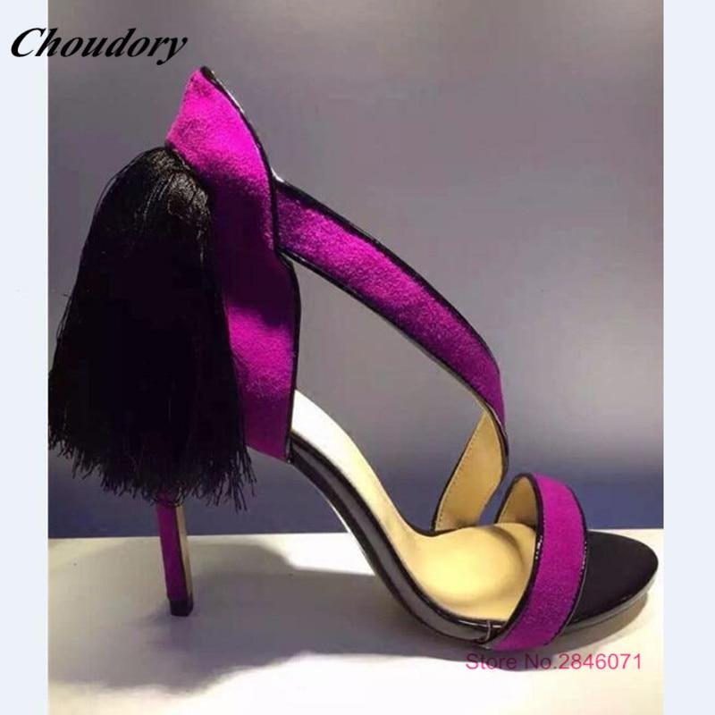 Gamuza Moda Alto Delgada Opcional Mujer as Caliente 2019 Mixto As Las Verano De Pic Sexy Color Sandalias 8 Tacón Super Flecos Pic Zapatos Mujeres q8fXwq