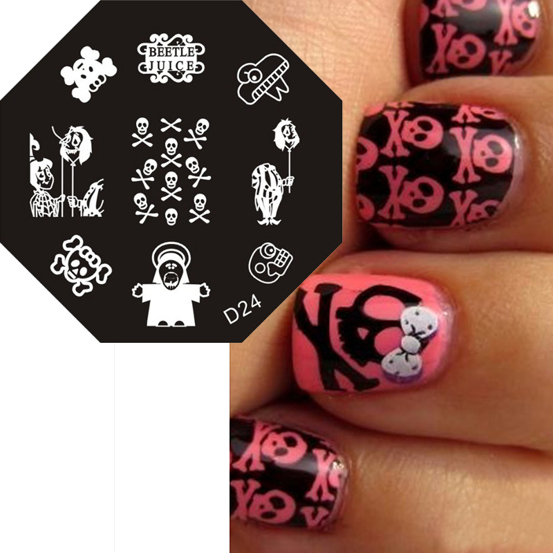 Modern Diy Nail Stencils Composition - Nail Paint Design Ideas ...
