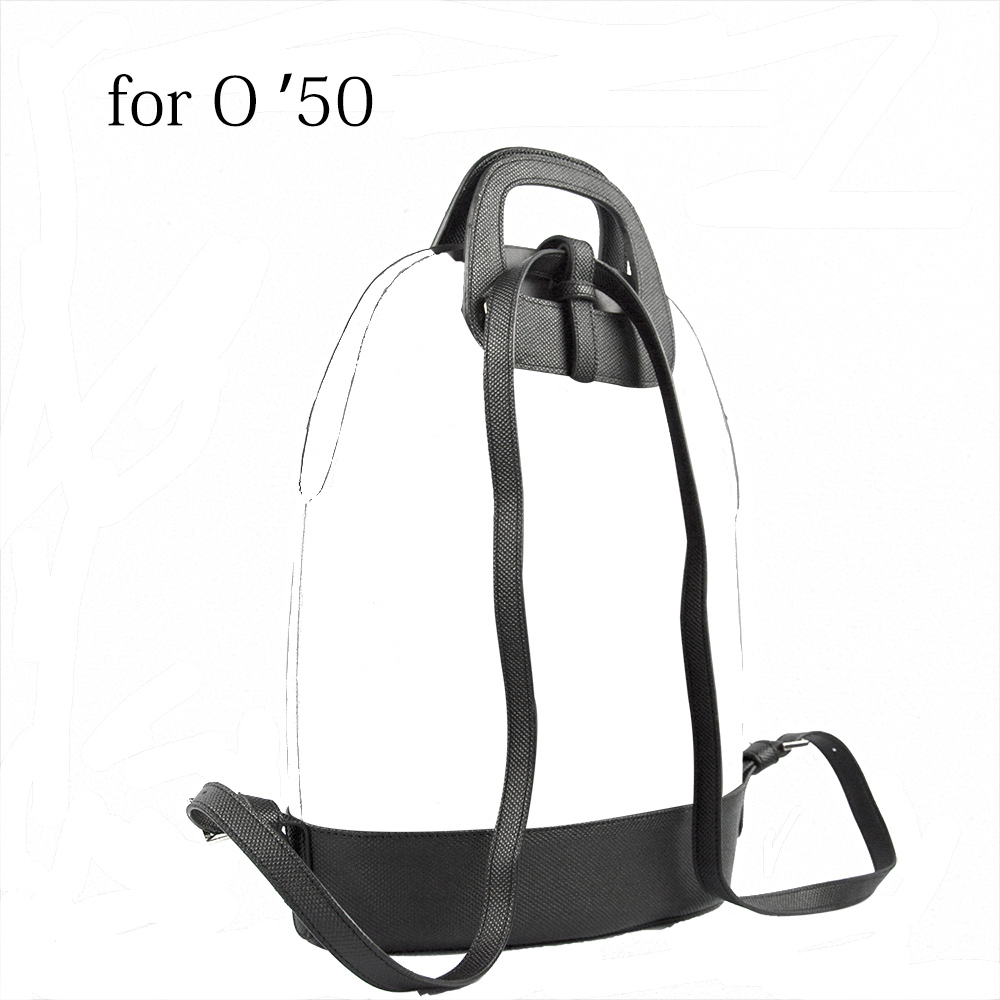 2019 D Buckle Oblong Handle Slim PU Leather Buckle Strap Bottom Backpack Kit Combination Set For Obag 50 O Bag 50