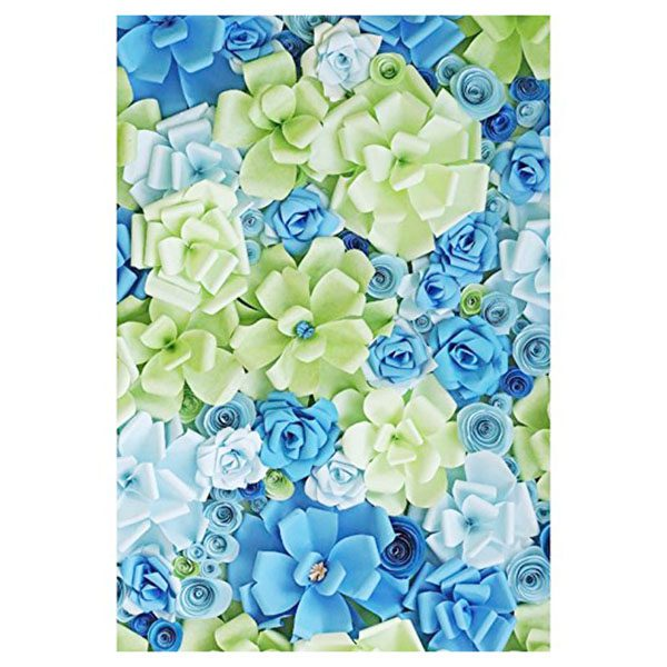 5x7ft photography backdrops handmade bluegreen paper flowers wall 5x7ft photography backdrops handmade bluegreen paper flowers wall photo spring newborn kids baby shower studio in background from consumer electronics on mightylinksfo
