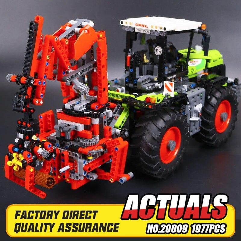 New 1977Pcs Lepin 20009 Technic Ultimate Series Mechanical Heavy Tractors Building Blocks Bricks Toys 42054