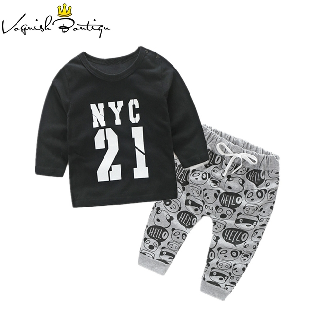 New style letter printed baby clothes