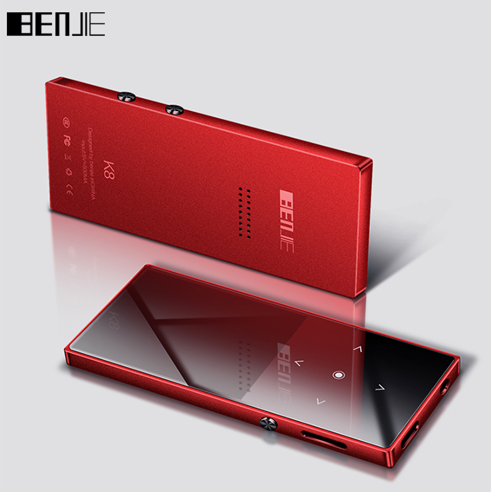 New Mp3 Player BENJIE K8 Build in Speaker Touch Key Ultra Thin 8GB MP3 Music Player 1.8 Inch Color Screen Lossless Sound with FM