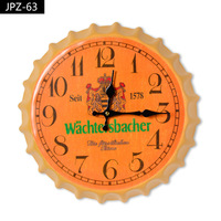 Modern New Arrival Hanging Watch Beer Cover Wall Clock Mural Bar Beer Bottle Wall Clocks Home Decoration Accessories