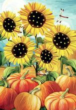 Morigins Home Decor Welcome Fall Garden Flag Double Sided Autumn Sunflower House Yard Seasonal Outdoor 28 x 40 Inch Z