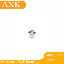 2019 Real Top Fashion Smr85zz Abec-3 (10pcs) 5x8x2.5 Mm Stainless Steel Miniature Smr85 Zz Ball Bearings Smr85-zz цена