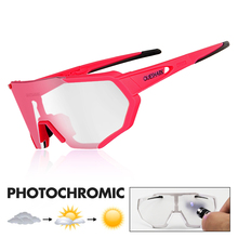 QUESHARK Photochromic Cycling Sunglasses Mountain Bike MTB Goggles Eyewear Bicycle Glasses