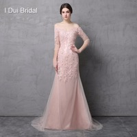 Off The Shoulder A Line Tulle Lace Mother Of The Bride Dresses With Half Sleeve Sequin