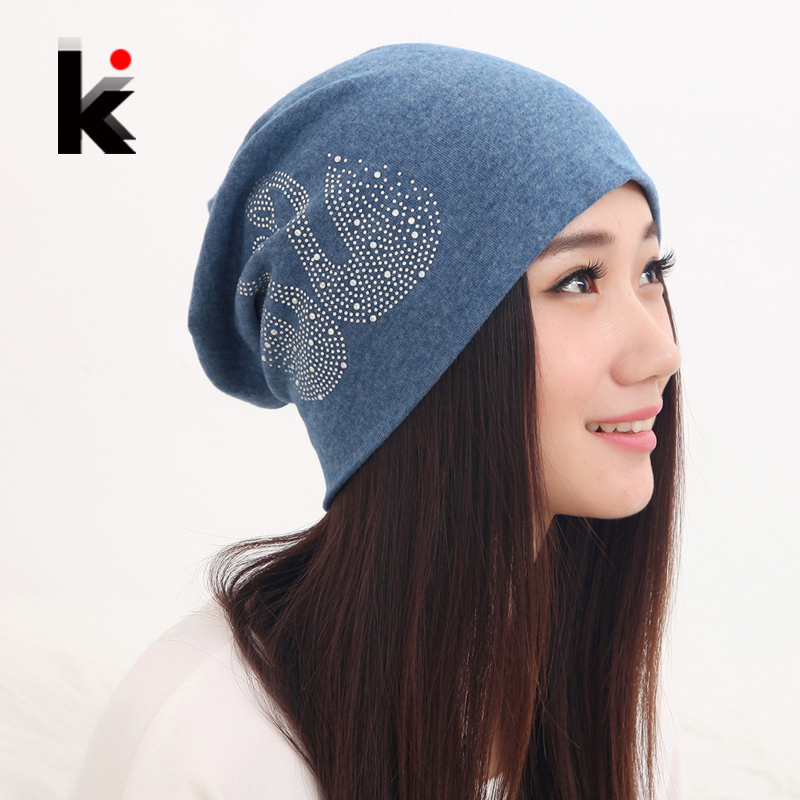 Free shipping autumn and winter beanies diamond The swan turban  cap skullies hip-hop stocking hat for women men bonnet 6 colors