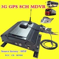3G GPS хост мониторинга 8 channel жесткий диск DVR удаленного мониторинга и позиционирования Мобильный DVR Поддержка NTSC/режим PAL