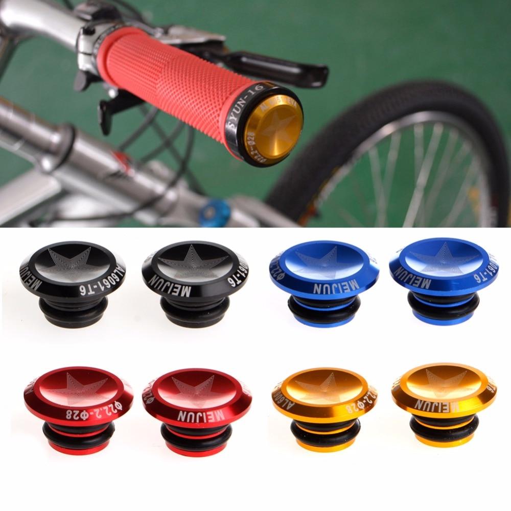 Bike MTB Mini Aluminum Alloy Grip Handlebar Bar End Plugs Stoppers Caps 1 Pair