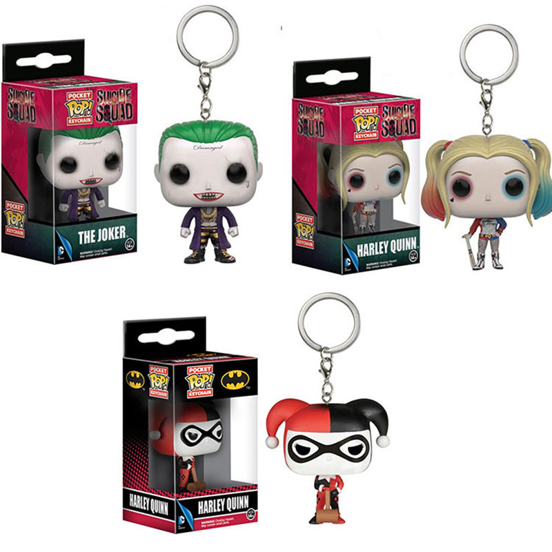 Funko POP 4cm Suicide Squad The Joker & Harley Quinn Action Figure Collection Toy For Children With Retail Box