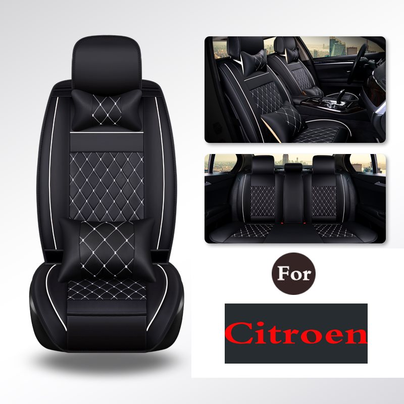 цены Auto Single Seat pad Car Seat Chair Pad Covers For Citroen C3-Xr C4l C5 C-Elysee C-Quatre C2 Elysee Ds5 Ds5ls Ds6